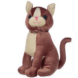 image-Brown Cat With Ribbon Interior Door Stop