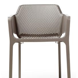image-Chumasero Stacking Dining Arm Chair Dakota Fields Finish: Turtle Dove
