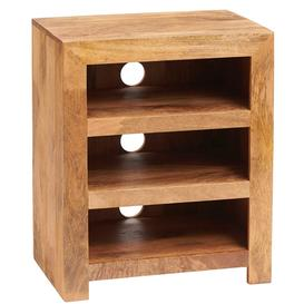 image-Toko Light Mango Furniture 3 Shelves HIFI Cabinet