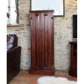 image-La Roque Mahogany Furniture CD DVD Cupboard