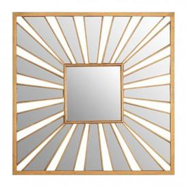 image-Zaria Sunburst Design Wall Bedroom Mirror In Gold Frame