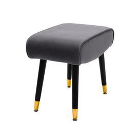 image-Geddes Dressing Table Stool Fairmont Park Seat Colour: Grey
