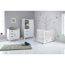 image-Obaby Stamford Mini Sleigh 3 Piece Nursery Set - White
