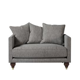 image-Swoon Winchester Love Seat in Bordeaux Easy Velvet With Dark Feet