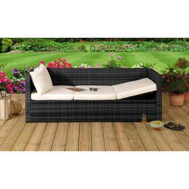image-Katelin Garden Sofa with Cushions Sol 72 Outdoor Colour: Black