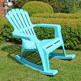 image-Monatuk Rocking Chair Sol 72 Outdoor Colour: Blue