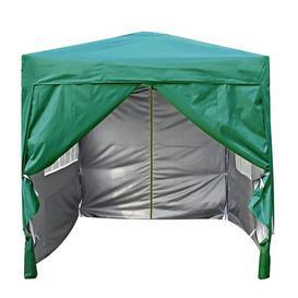 image-Jarrow 2m x 2m Aluminium Pop-Up Gazebo Sol 72 Outdoor Roof Colour: Green