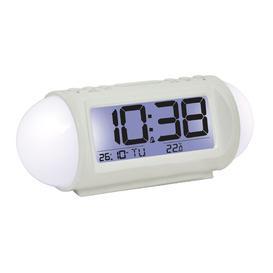 image-Table Clock London Clock Company Finish: White