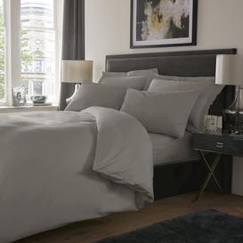 image-Dull 800 TC Duvet Cover Set Marlow Home Co. Size: Kingsize - 2 Standard Pillowcases, Colour: Light Grey
