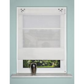 image-Semi Sheer Roman Blinds Mercury Row Size: 130cm L x 45cm W, Colour: Wool white