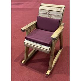 image-Friedman Rocking Chair with Cushions Union Rustic Colour (Fabric): Burgundy
