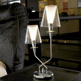image-Opera 50cm Table Lamp Metal Lux Shade Colour: Clear Crystal Pirex