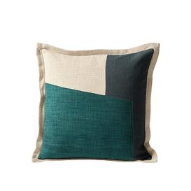 image-Swoon Purcell Scandi Style, 100% Cotton Cushion in Cream, Navy & Teal