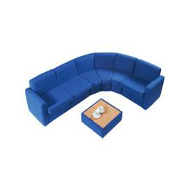 image-Portland Modular Reception Seating, Blue