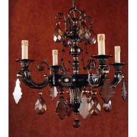 image-Dancy 4-Light Candle-Style Chandelier Astoria Grand Finish: High Lighted Dark Flemish