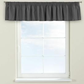 image-Edinburgh Curtain Pelmet Dekoria Size: 260cm W x 40cm L, Colour: Charcoal