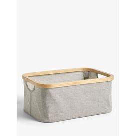 image-John Lewis & Partners Bamboo Rim Storage Box, Grey