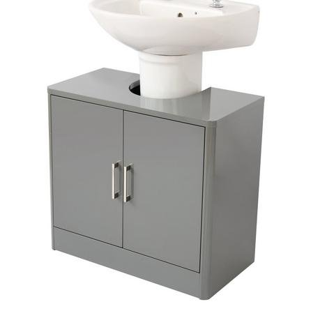 image-Sicily Grey Bathroom Vanity Unit Grey