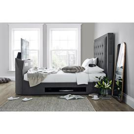 image-Elvira Upholstered TV Bed Rosalind Wheeler Size: Kingsize (5')