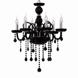 image-Janiyah 6-Light Candle-Style Chandelier Mercer41 Finish: Black