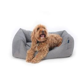 image-Project Blu Alpha Domino Dog Bed - Grey