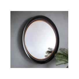 image-Gallery Direct Fiddock Black and Gold Oval Mirror