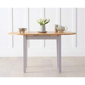 image-Ex-display Amalfi Oak and Grey Extending Dining Table