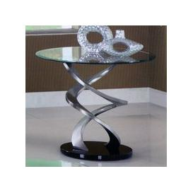 image-Spiral Glass Lamp Table