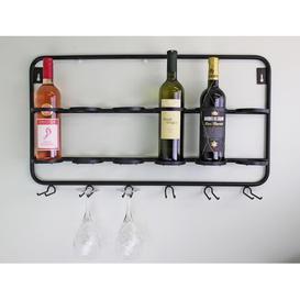 image-Crossman 6 Bottle Wall Mounted Wine Rack Borough Wharf