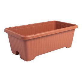 image-Air Vegetable Plastic Balcony Planter IRIS Colour: Brown, Size: 26cm H x 53cm W x 35.5cm D