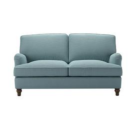 image-Bluebell 2 Seat Sofa Bed in Lagoon Brushed Linen Cotton