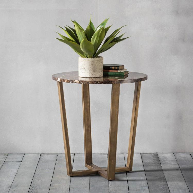 image-Emperor Round Side Table Marble