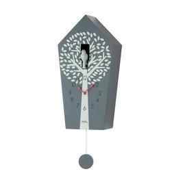 image-Cuckoo Wall Clock AMS Uhrenfabrik Colour: Anthracite lacquered finish