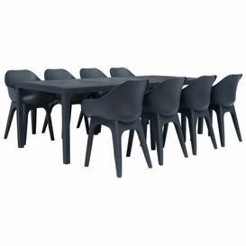 image-8 Seater Dining Set Dakota Fields Colour: Anthracite