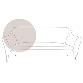image-Heal's Wallis 4 Seater Sofa Capelo Linen-Cotton Sea Salt Black Feet