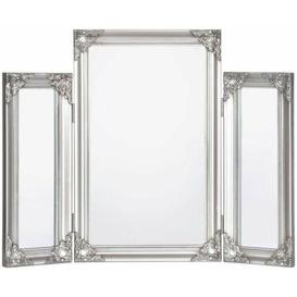 image-Charlotte Dressing Table Mirror-Antique Silver 70x55cm