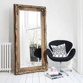 image-Gallery Direct Carved Louis Leaner Mirror - Gold