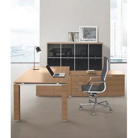 image-Concetta Executive Desk Ebern Designs Colour: Natural Oak
