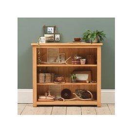 image-Oakley Pine Small Wide Bookcase