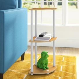 image-Corner Bookcase Wayfair Basics Colour: Beech/White