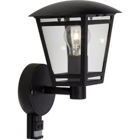 image-Rossi Outdoor Wall Lantern with Motion Sensor Sol 72 Outdoor Fixture Finish: Black