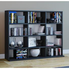 image-Mini Multimedia Open DVD/CD Shelf Mercury Row Colour: Black