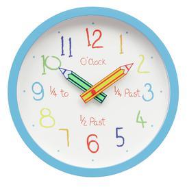 image-Argos Home Children's Clock - Blue