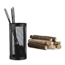 image-Nancy 5 Piece Steel Fireplace Tool Set