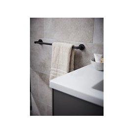 image-Miller Bond Single Towel Rail, Black