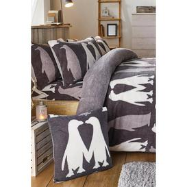 image-Ultra Cosy Winter Penguins Teddy Fleece Fitted Sheet