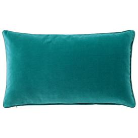 image-Plain Velvet Cushion Cover, Small - Renoir Blue