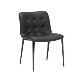 image-Kuga Leather Dining Chair, Black Ecopelle