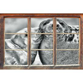 image-Cuddling Seals Wall Sticker