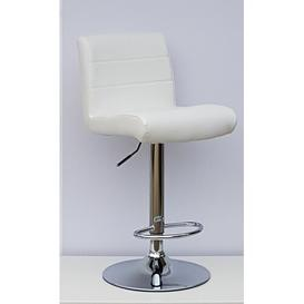 image-Woodside Height Adjustable Bar Stool (Set of 2) Metro Lane Upholstery Colour: White